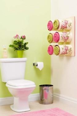 Удивительно красивые и функциональные вместители для полотенец из жестяных банок.