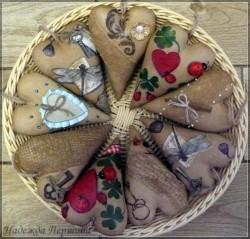 Ароматные сердечки для украшения кухни — мк с пошаговым фото.