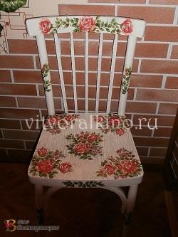 Реставрация стула в технике декупаж.