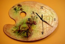 Декупаж часов своими руками (с механизмом для часов).