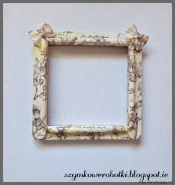 Винтажная рамочка для фото из макарон — пошаговый МК.